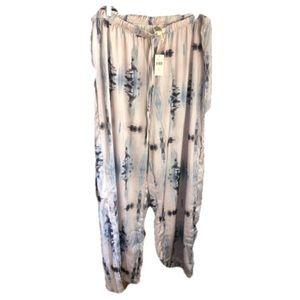 LILKA Anthropologie NWT Silky pajama pants large